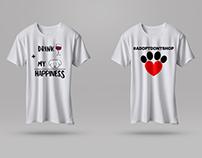 T-shirt illustration. Brand name DogMe