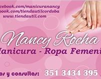 Nancy Rocha Tarjeta de Presentación y publicidad