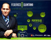 Demo Profesional de Locución: Federico Quintana