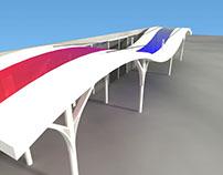 """Airport hall roof """"Simón Bolívar"""" Maiquetia, Venezuela"""