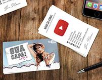 Layout - Cartão de Visita Para Youtubers.