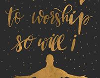 ilustração: if the stars were made to worship so will I