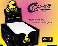Chiclets Pac-man - Embalagem Geek
