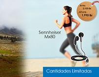 Publicidad tipo Banner - Audífonos Sennheiser