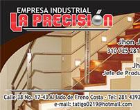 Tarjeta Comercial Empresa Industrial La Presición
