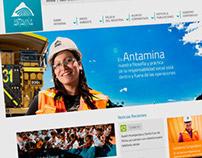 Antamina Website Redesign