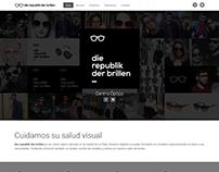 [Web] die republik der brillen. One Page with Bootstrap