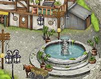 Medieval Town Asset