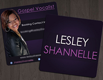 Lesley Shannelle visual identity, cd cover, bc, flyer.