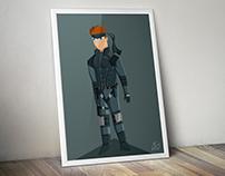 Ilustración Solid Snake
