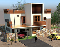 House 3d Elevation