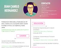 Hoja de vida Juan Camilo Hernández- Social Creative