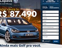 Landing Page for Copava (Volkswagen)