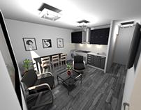 3D reforma salón
