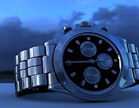 Modelado 3D de Rolex en variación de materiales.