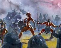 Golden Axe Videogame Illustration