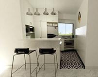 Cocina integrada de Apartamento