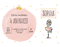 Convite Sophia - 4 anos