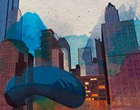Chicago watercolor.
