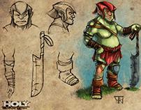 Holy Avenger W.I.P - Character Design