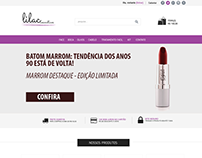 Layout Lilac Cosmeticos