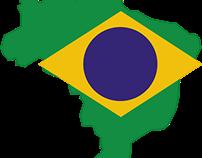 Brazil on table / Brasil na mesa