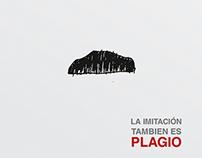 Carteles campaña contra el plagio