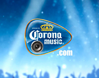 Banner. Corona Music.
