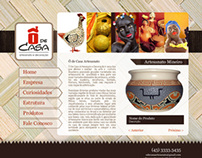 Webdesign do Site Ô de casa Artesanato