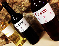 Trilogía Vida. Etiquetas de vino