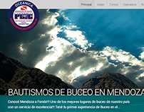 Oceanica Buceo - Wordpress Design