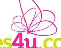 Diseño de logo para Flores4u.com