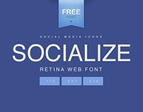 SOCIALIZE | RETINA WEB FONT