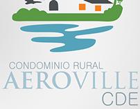 Condomínio rural aeroville CDE | Logotipo