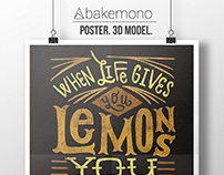 Typography Poster. 3D Model
