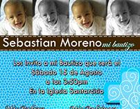 Tarjeta de invitación de bautizo