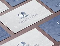 Logo e cartão Sarah Lima