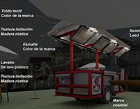 Model 3D trailer for food shop