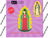 Diseño básico Flat Design (Virgen de Guadalupe)