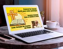Folder de divulgação dos encontros Semanais  liturgicos