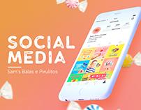 Social Media | Sam's Balas e Pirulitos