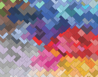 Multicolor Triangles (Pattern design)