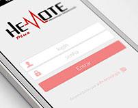 Hemote Plus Mobile login screen