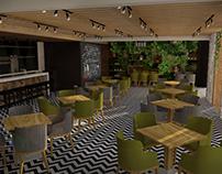 Diseño interior de Restaurante.