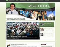 Desenvolvimento do site de Max Filho