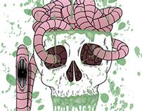 Cérebro de Minhoca - Ilustração Vetorial