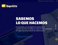 Rediseño Website Daprints Gráfica Digital