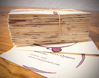 Ramón Orozco Quijano - Sommelier / Business Card