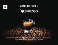 Publicidad Nespresso de evento privado para clientes.