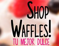 Logo waffles shop